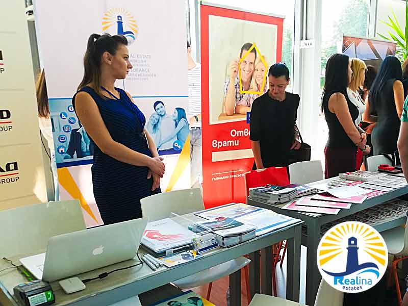 Realina Stand auf die Immo Expo Burgas